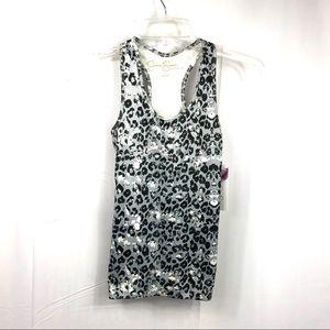 Jessica Simpson Leopard Print T-back Top Size S